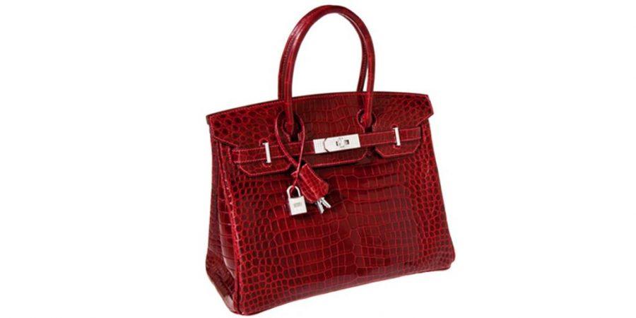 5f41a404e79 Hermès Exceptional Collection Shiny Rouge H de Couro de Crocodilo-marinho  US  203 mil