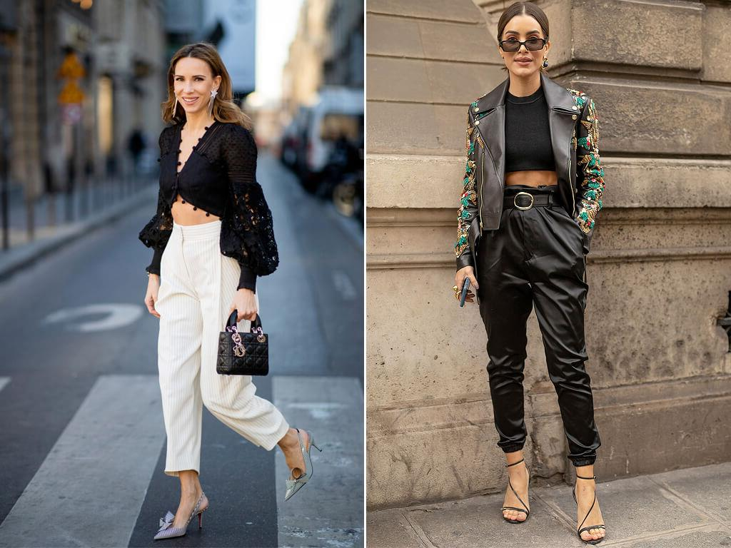 Looks com Cropped top.